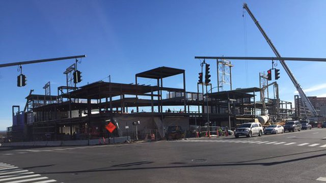 Mayor Luke Bronin announced a funding plan he hopes will get the Yard Goats stadium back on track. (WFSB photo)