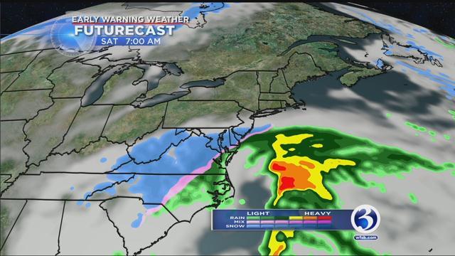 A Futurecast model predicting 7 a.m. on Saturday.