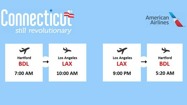 American Airlines will offer service to LAX this summer (Photo from CT.gov press release)
