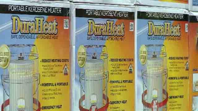Space heaters have been flying off the shelves at some hardware stores as people try to cope with the cold weather. (WFSB)