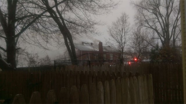Fire reported at American Legion P.O.W building in Manchester. (John Laggis)