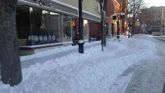 Courtney Zieller captured this photo West Main Street in Meriden on Sunday