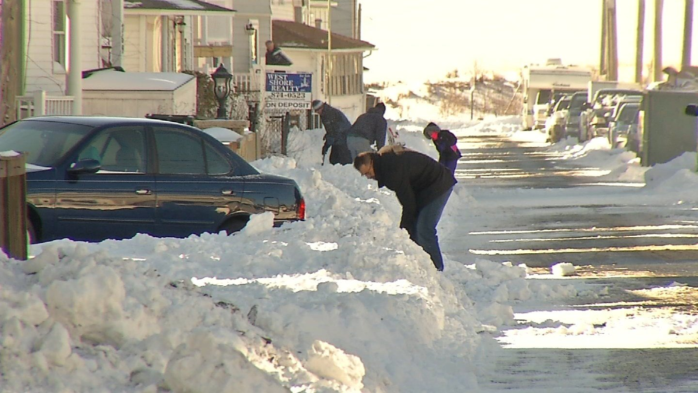 Milford residents spent Sunday in clean-up mode. (WFSB)
