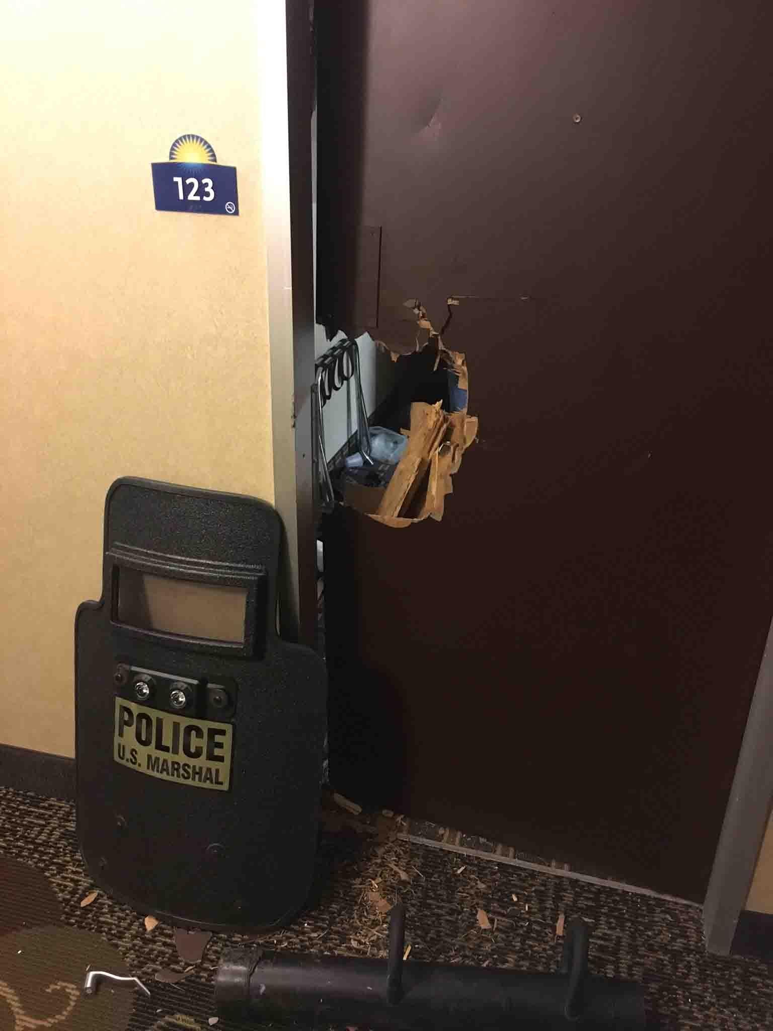 U.S. marshals helped take Alexander into custody at a Days Inn Motel in Vernon. (Hartford police photo)