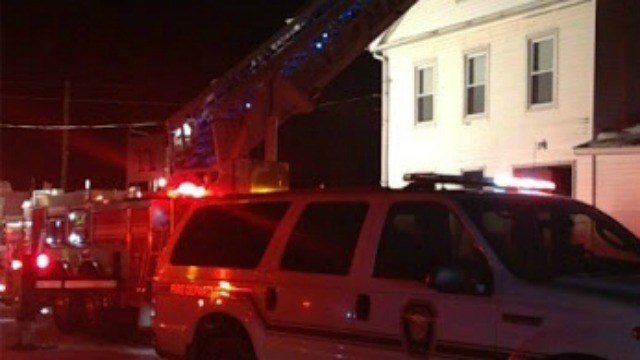 Six people displaced after house fire in the 200 block of East Main Street in Branford. (WFSB)
