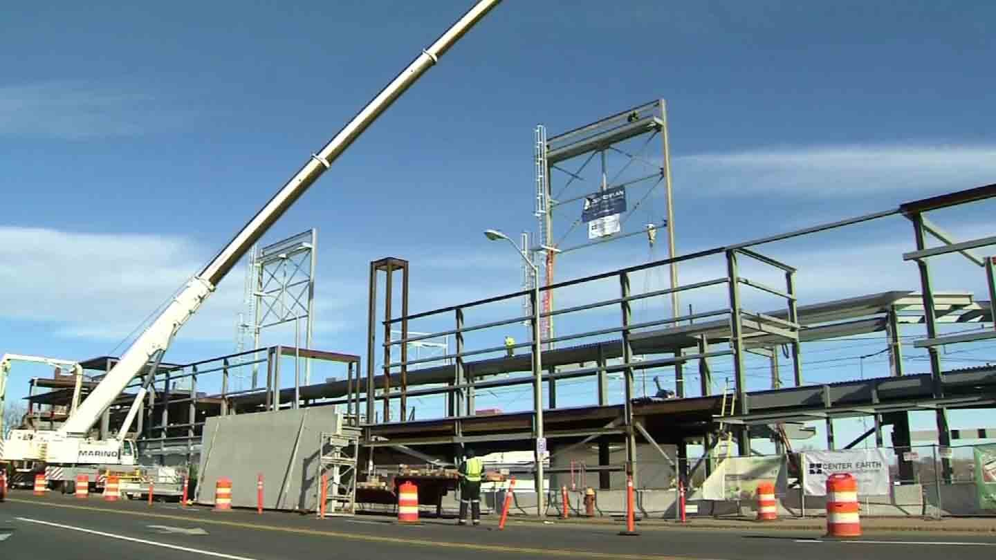 Construction continues at the Dunkin' Donuts Park in Hartford. (WFSB file photo)