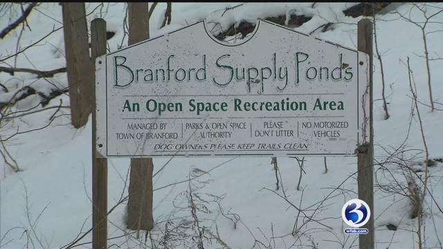 Man fell through the ice at Supply Pond Park in Branford. (WFSB)