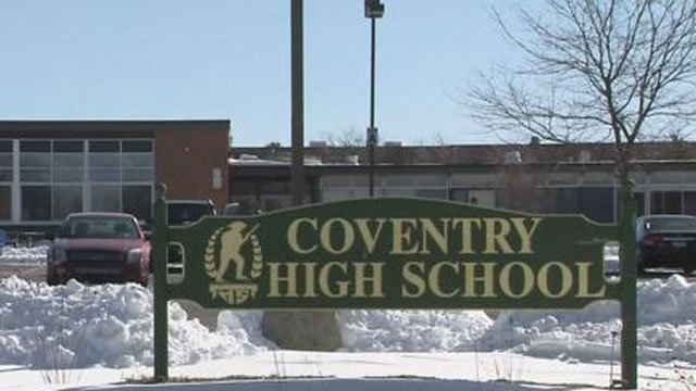 Students were dismissed from Coventry High School after water main break on Monday. (WFSB)