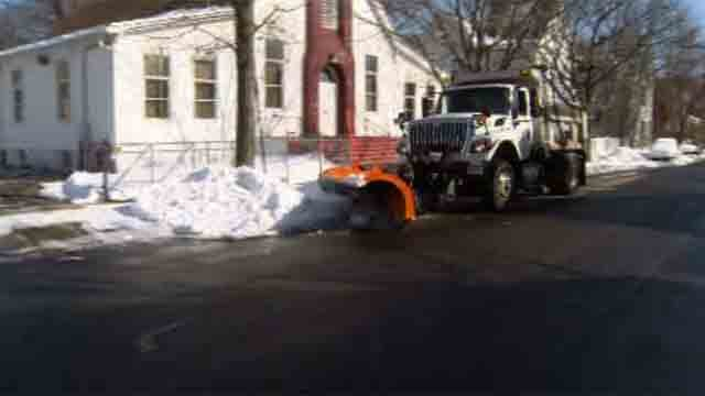 Shoreline crews continue to clean up after Winter Storm Anna (WFSB)