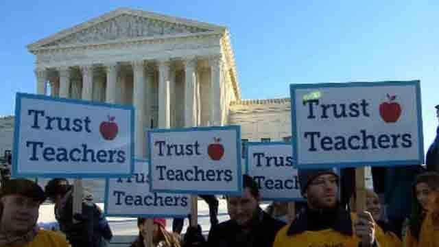 Last week, there was a huge rally outside the U.S. Supreme Court, as justices heard arguments that could have significant consequences for labor unions. (WFSB)