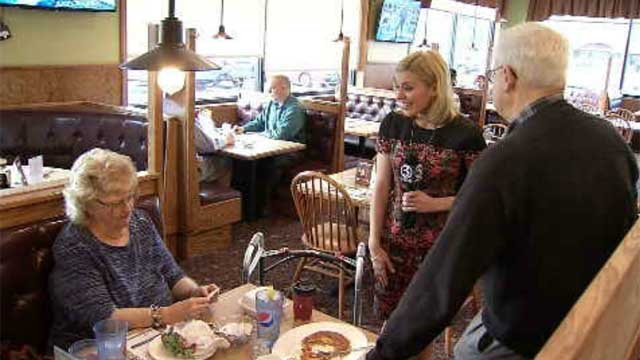 The squad served up some surprises at Chip's Family Restaurant in Wethersfield on Wednesday morning. (WFSB)
