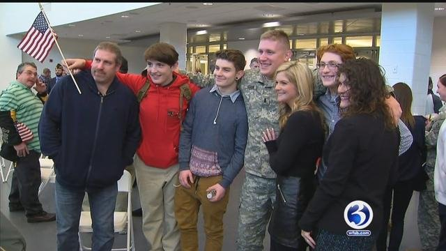 Army National Guard unit comes home on Wednesday (WFSB)