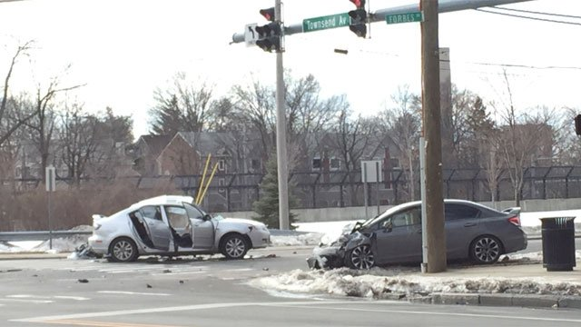 One man died after a two-vehicle crash in New Haven. (WFSB)
