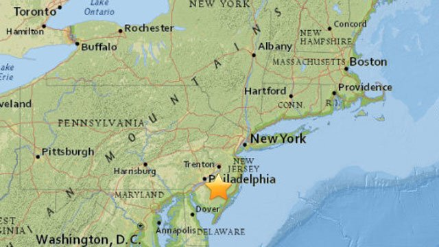 USGS reports a sonic boom in southern New Jersey (USGS)