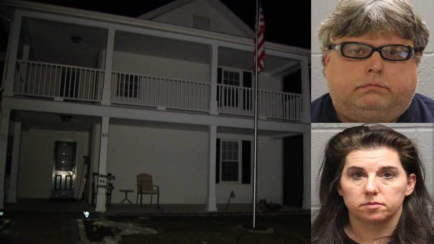 George and Nancie Barnes face a number of charges. (Watertown police/WFSB photos)