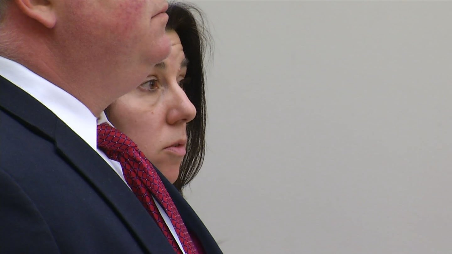 Nancie Barnes in court on Friday. (WFSB photo)