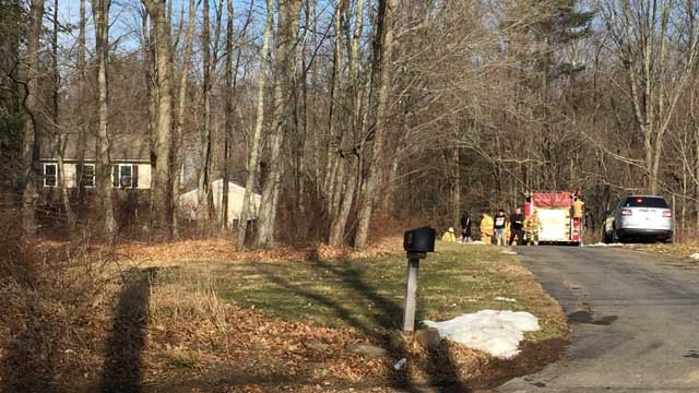 The fire broke out at a home on Cedar Swamp Road (WFSB)