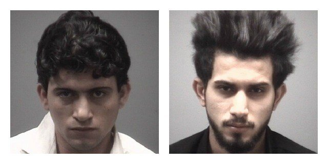 Kadhim Alsubaih and Ahmed Roomi were arrested in connection with robbery and stabbing at a cafe in New Haven. (New Haven Police Department)