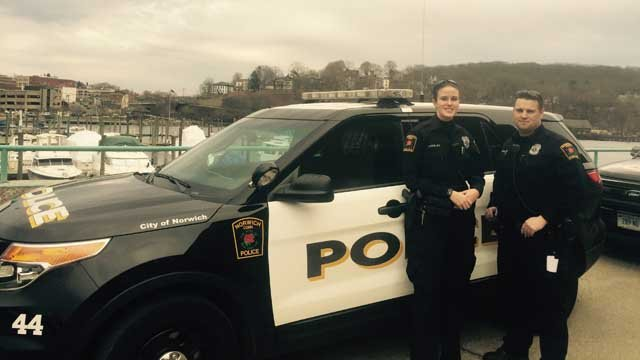 Two Norwich police officers are being recognized by the department for going beyond the call of duty recently. (Norwich Police)