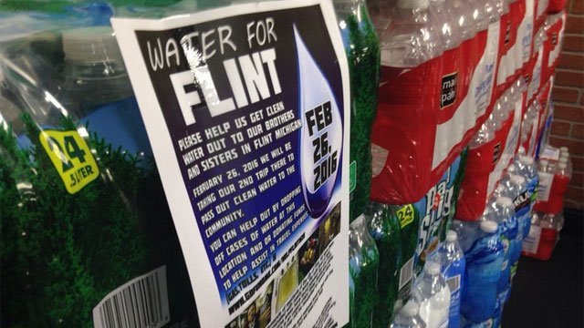 Three Bridgeport men have already made one trip to Flint with donated water and will do it again this month. (WFSB)