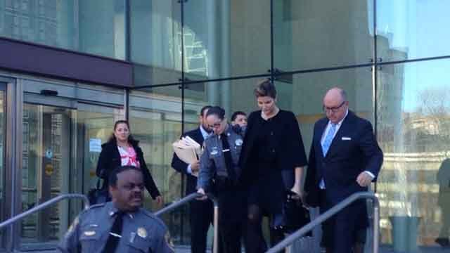 Model Stephanie Seymour leaves court following hearing in DUI case (WFSB)