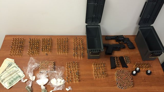 The items seized from Maddox's home. (Hartford police photo)