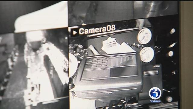 Police are searching for the suspects in the burglary at Spartans II in Southington. (WFSB)