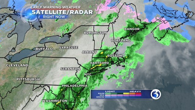 Showers will linger overnight on Wednesday (WFSB)