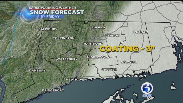 Snow could fall in part of the state Friday morning (WFSB)
