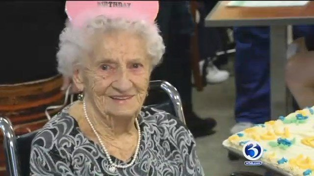 Margaret Smith celebrated her 104th birthday on Wednesday (WFSB)