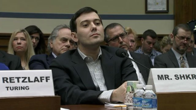 Martin Shkreli listens to a question from U.S. Rep. Elijah Cummings. (CNN Newsource)