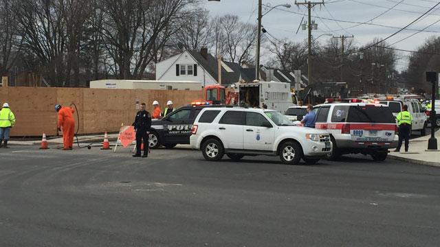 A gas leak reported in West Hartford. (WFSB)