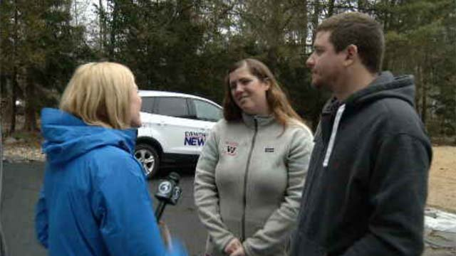 The Liberty Bank SurPRIZE Squad made a special delivery to a newlywed Connecticut couple that has been healing after a major accident. (WFSB)