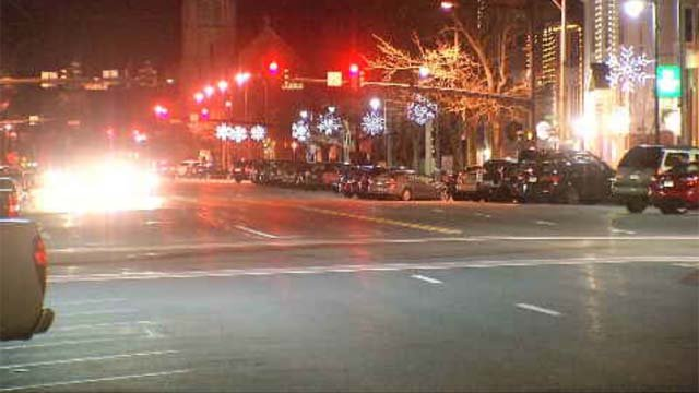 All was fairly quiet in Middletown Thursday night, but that is going to change by Friday morning (WFSB)