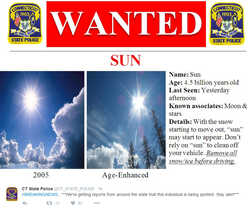 Wanted poster (CT State Police / Twitter)
