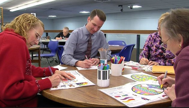 Adults are coloring to relieve stress. (WFSB)