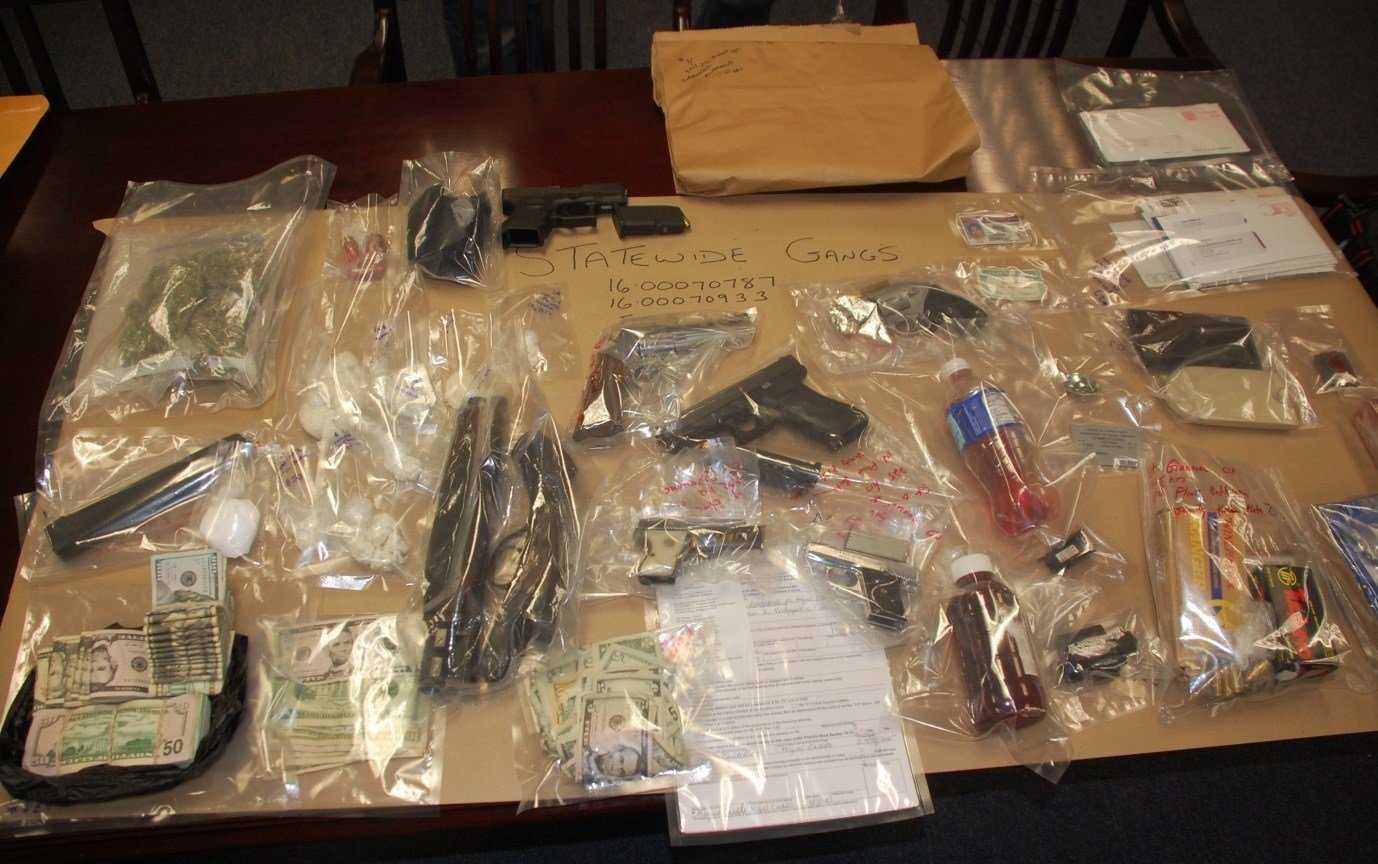 Some of the weapons seized (CT State Police)