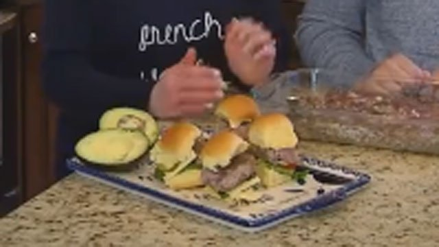 Nicole Nalepa makes her big game sliders for us with and her future husband, Andrew. (WFSB)