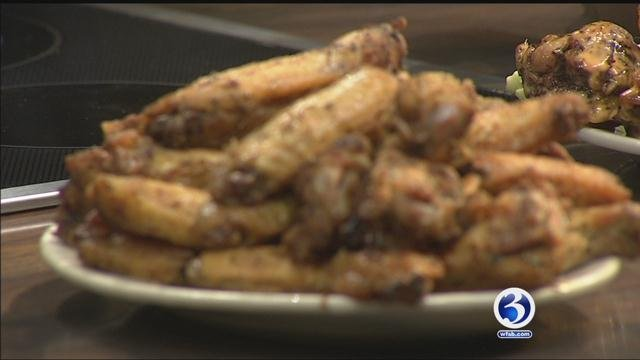 Hot Rod Cafe makes its Herb Roasted Wings for us on Sunday morning. (WFSB)