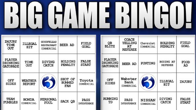 Big Game Bingo is a fun game to play during the Big Game. (WFSB)