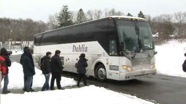 Late Monday afternoon, Dahlia sent another bus to pick up the uninjured victims of the bus crash (WFSB)