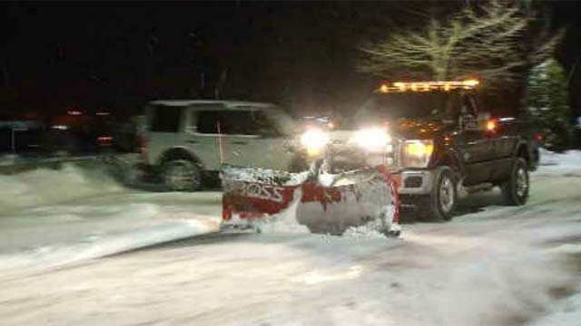 As Monday's storm winded down, crews continued to clean up across the state (WFSB)