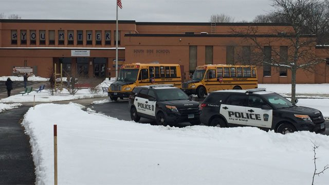 South Side School was placed in lockdown. (WFSB)