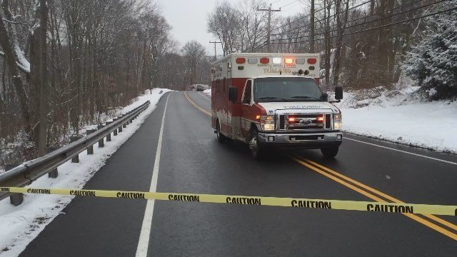 Deadly crash closed Route 74 in Tolland on Wednesday (WFSB)