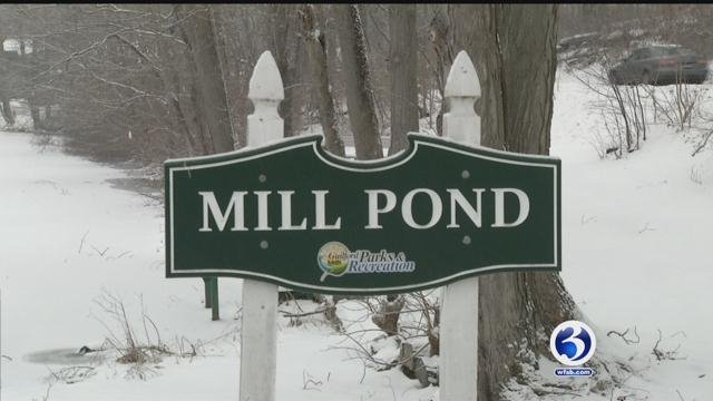 Firefighters are warning residents to stay off ponds and lakes after two huskies fell through the ice recently (WFSB)