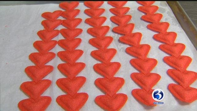 Heart-shaped pasta made in East Haven for Valentine's Day (WFSB)