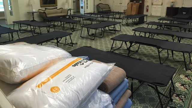The Asylum Hill Congregation Church in Hartford will serve as an overflow warming shelter over the weekend. (WFSB)