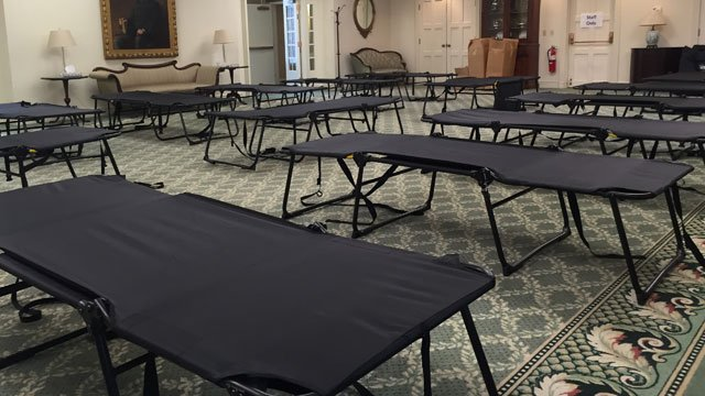 Hartford warming shelters are expected to be full this weekkend. (WFSB )