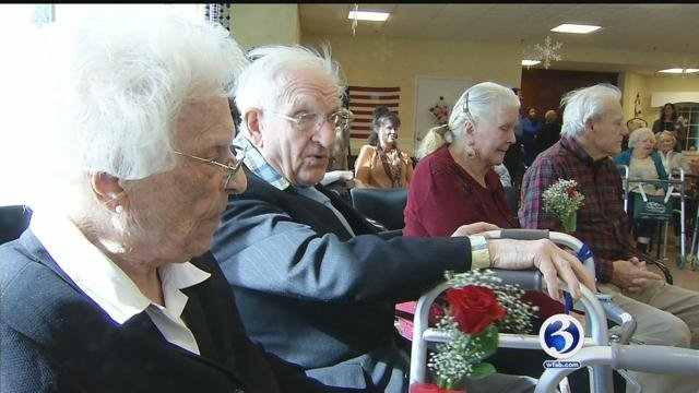 Fred and Martha have been married for 73 years and renewed their vows on Friday. (WFSB)