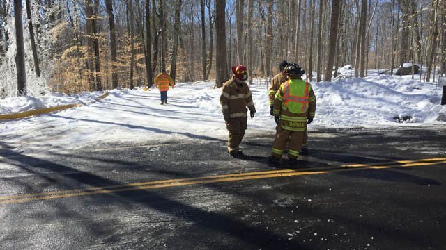 Crews responded to a chimney fire in Killingworth on Sunday morning (WFSB)